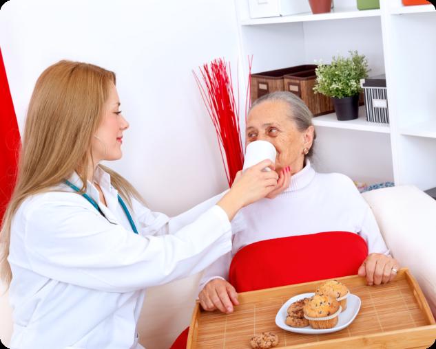 caregiver and nurse